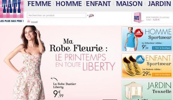 Tati fr le nouveau site des magasins tati - Site de vente discount ...