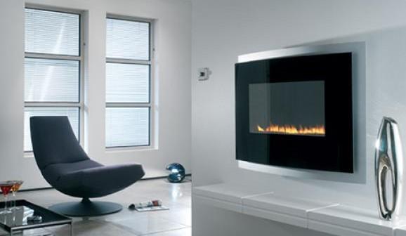 chemin e murale gaz. Black Bedroom Furniture Sets. Home Design Ideas
